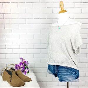Light Grey Light Weight Sweater Top